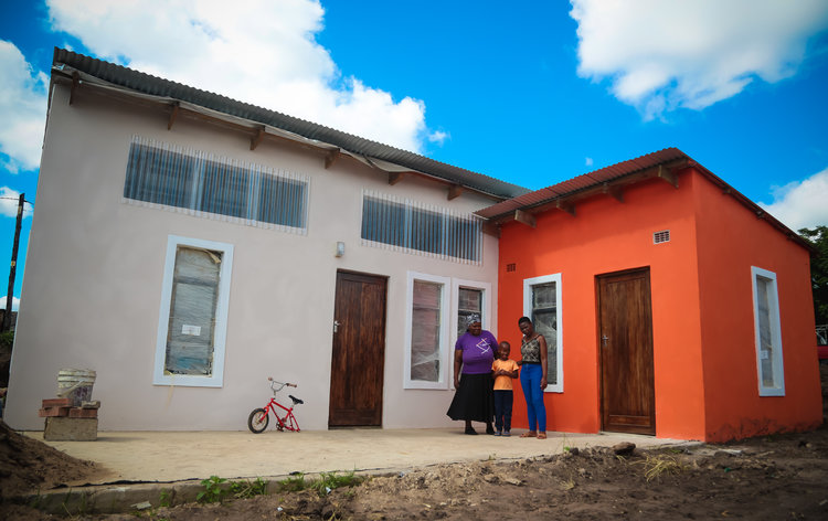 The completed Mtshali's home