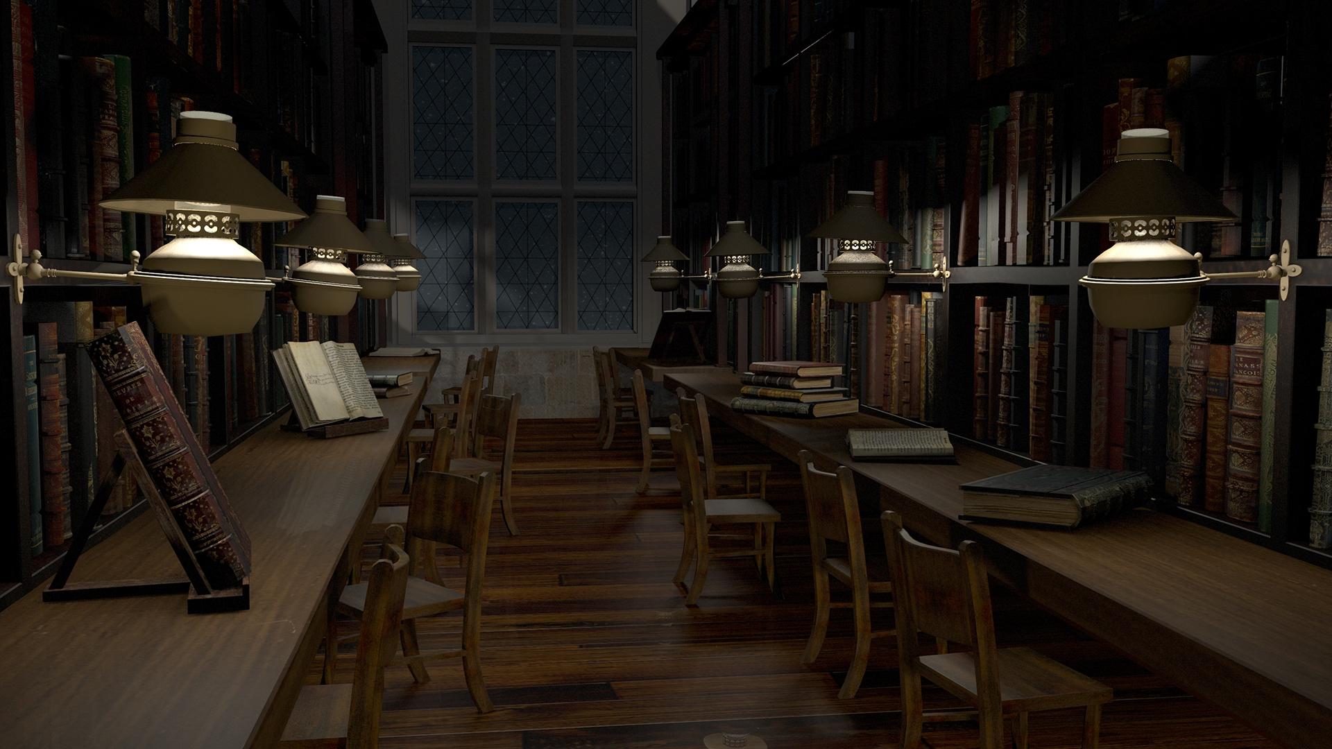 Hogwarts Library Cherrie Tsoi