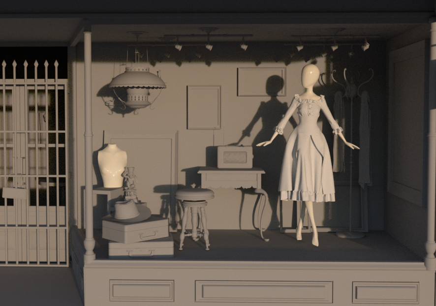 [In progress] A mo-cap and cloth simulation project about an alive mannequin.
