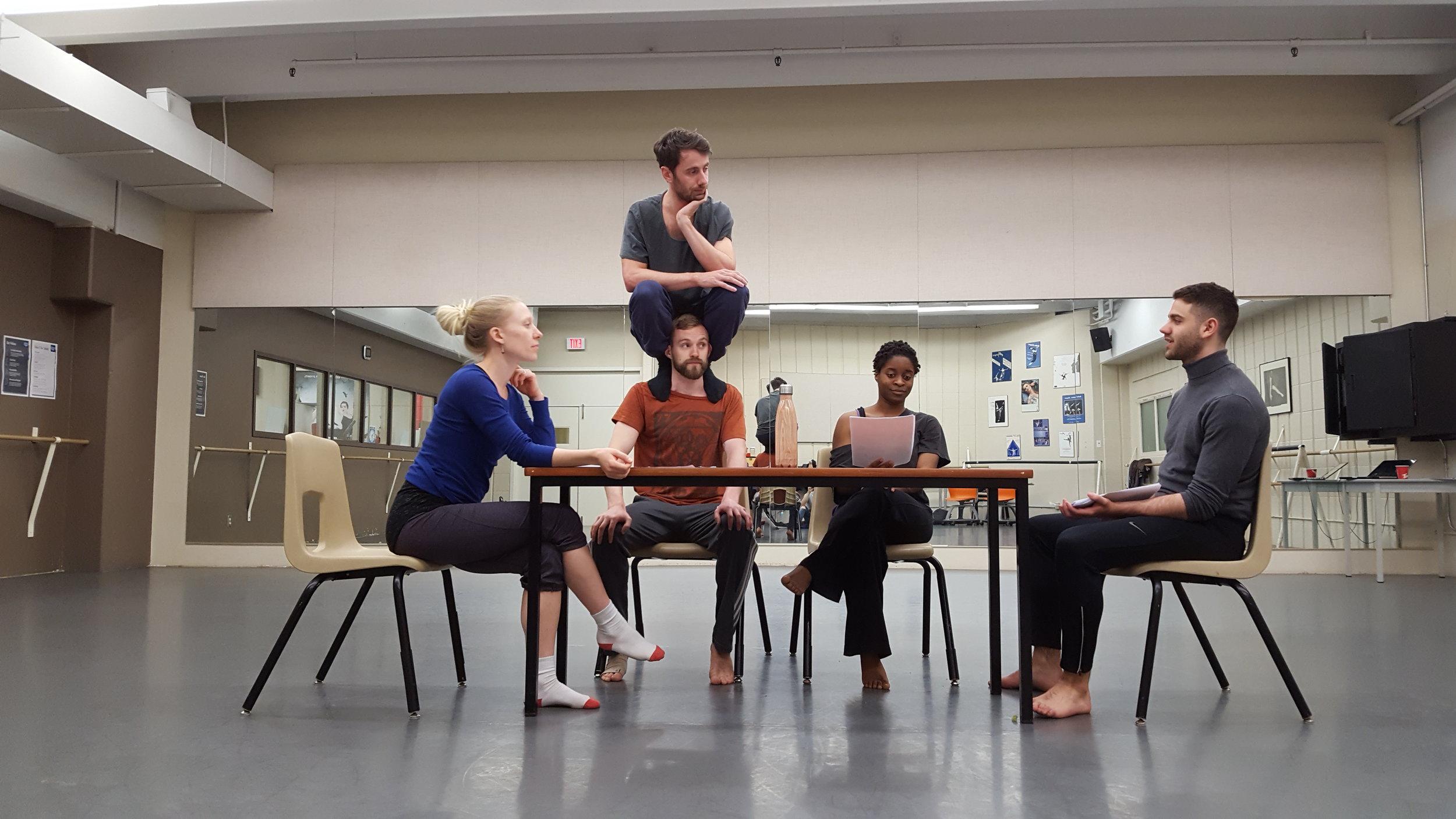 Vazari Dance Projects in Rehearsal