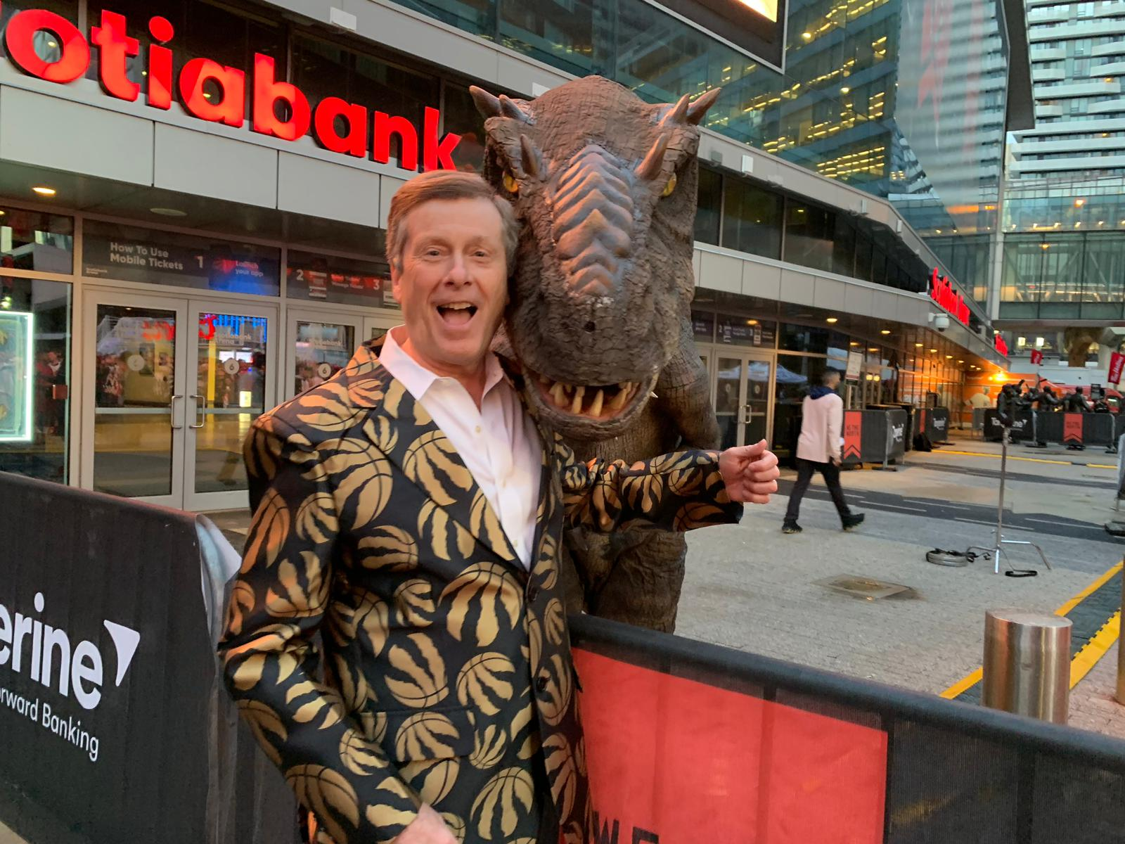 J-rex with mister John Tory