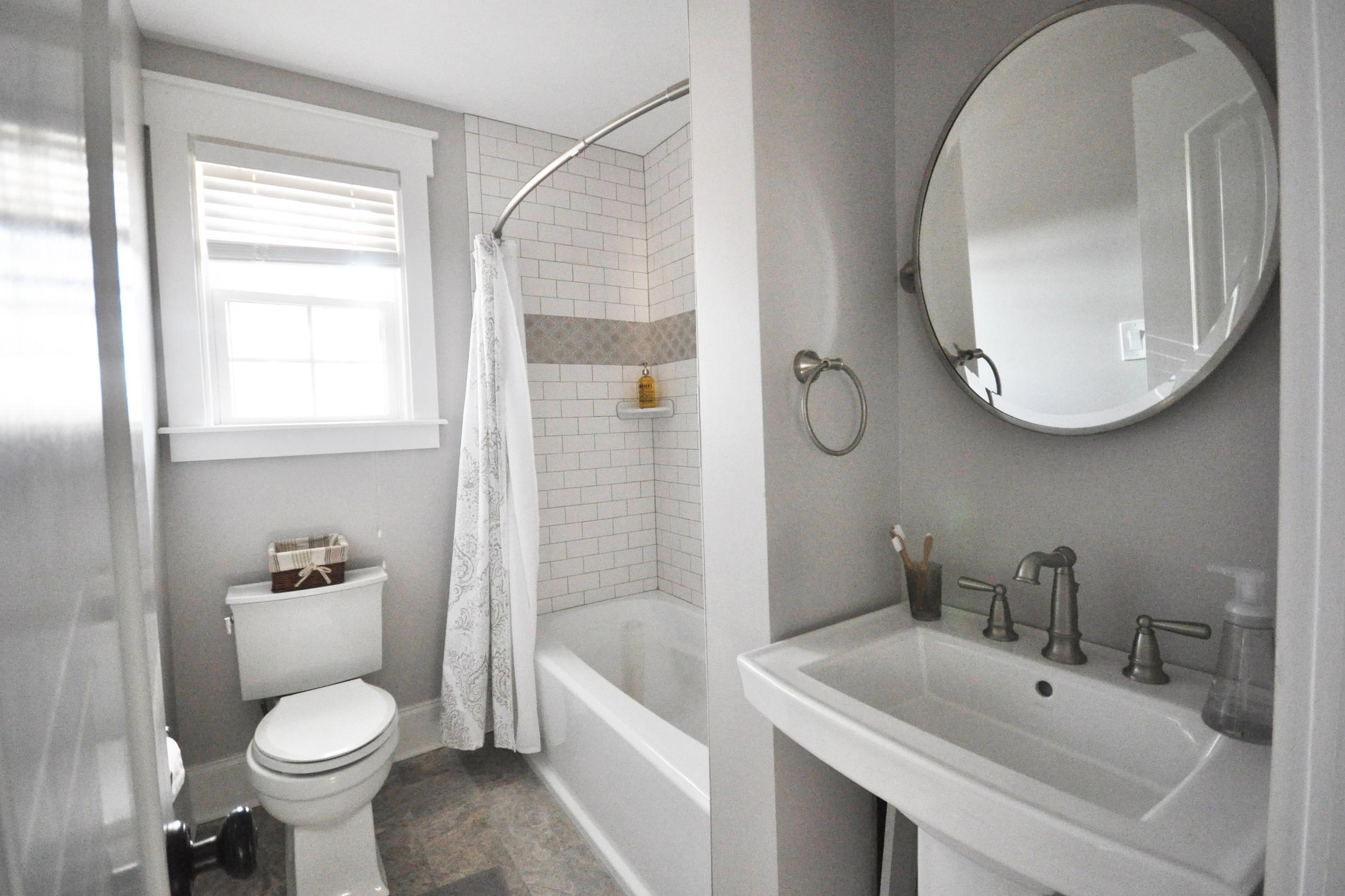 Bathroom remodel subway tile