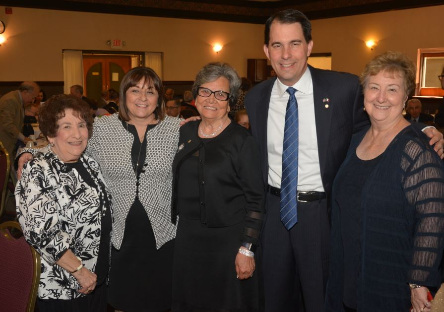 - In attendance at the event to honor the recipients were OSDIA's National President Vera Girolami from California, National 5th Vice President Richard R. Della Croce, the Honorable Scott Walker, Governor of the State of Wisconsin and the First Lady of Wisconsin, Tonette Tarentino Walker, who was honored for her community leadership.