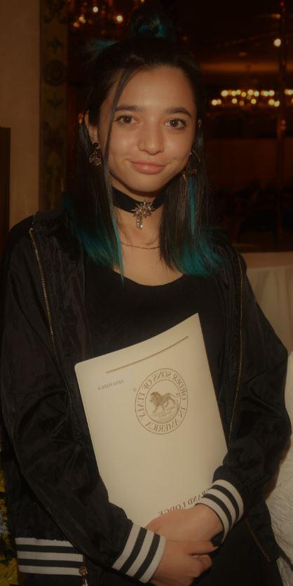 - Receiving the Leone d'Oro Lodge #2700 scholarship was Lena Padua, daughter of Michael Padua and Lou Ann D'Antonio