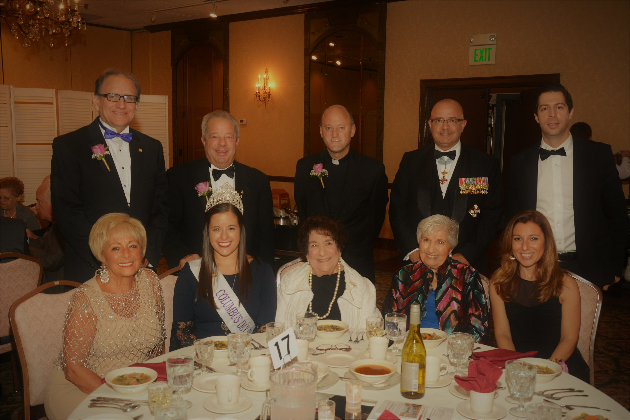 - Attending the banquet were Ms. Manuela Principe, Deputy Consul of Italy, Elizabeth Cavalieri-Konopacki, Columbus Queen, JoAnn Serpico, Executive Director of JCCIA, Rev. John Belmonte, OSIA Chaplain, Rev. Anthony Pizzo, IAET Chaplain, Grand Lodge Council Officers, lodge presidents and members from the filial lodges.
