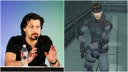 David Hayter and his counterpart, Solid Snake