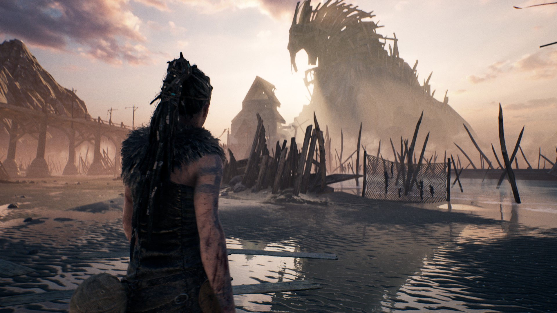 One of the stunning settings in  Hellblade.