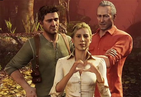"""Couldn't do it without you two! I mean it. I'd be dead like fifteen times without you."" - Nathan Drake, definitely"