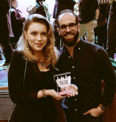 Me with Melina and her award for Best Acting in  Hellblade .