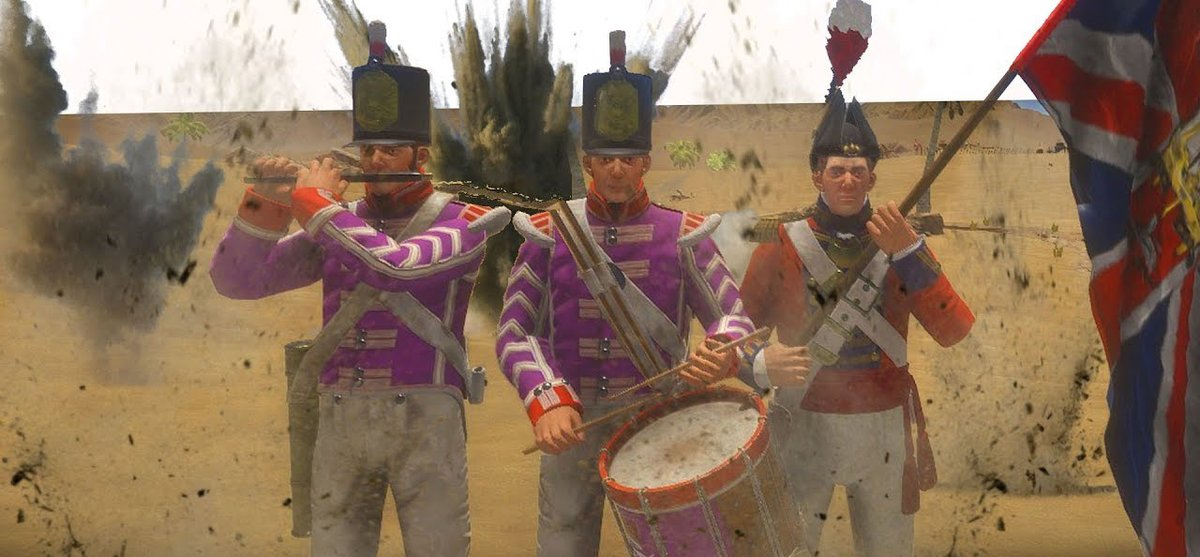 It takes a lot of guts to march into battle with nothing but an instrument, and even more to wear a bright pink uniform.