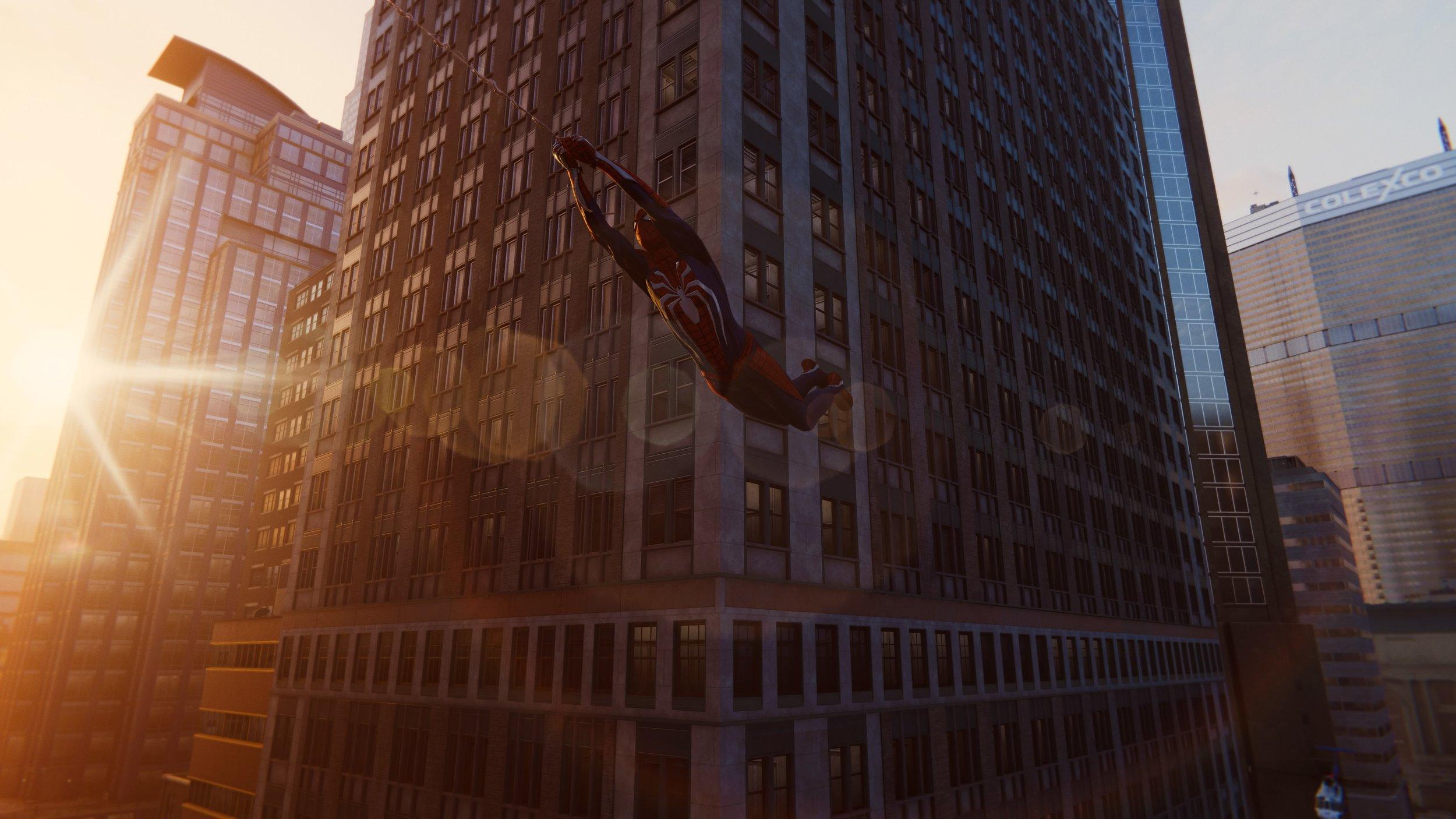Stunning Sunset Spider-Man Shot (SSSS) in action!