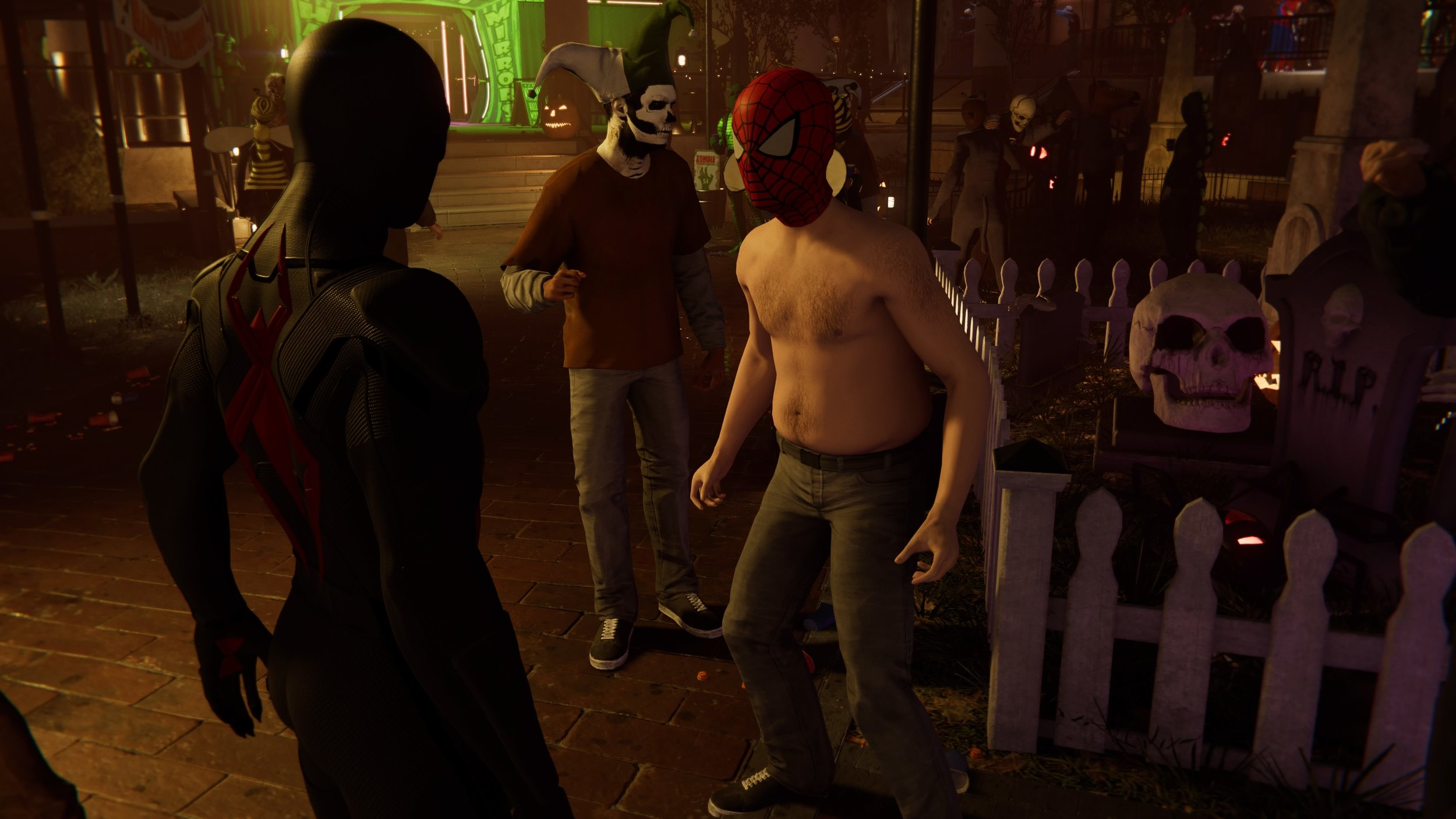Best Easter egg in the game is Shirtless Spider-Man! Shout out Greg Miller!