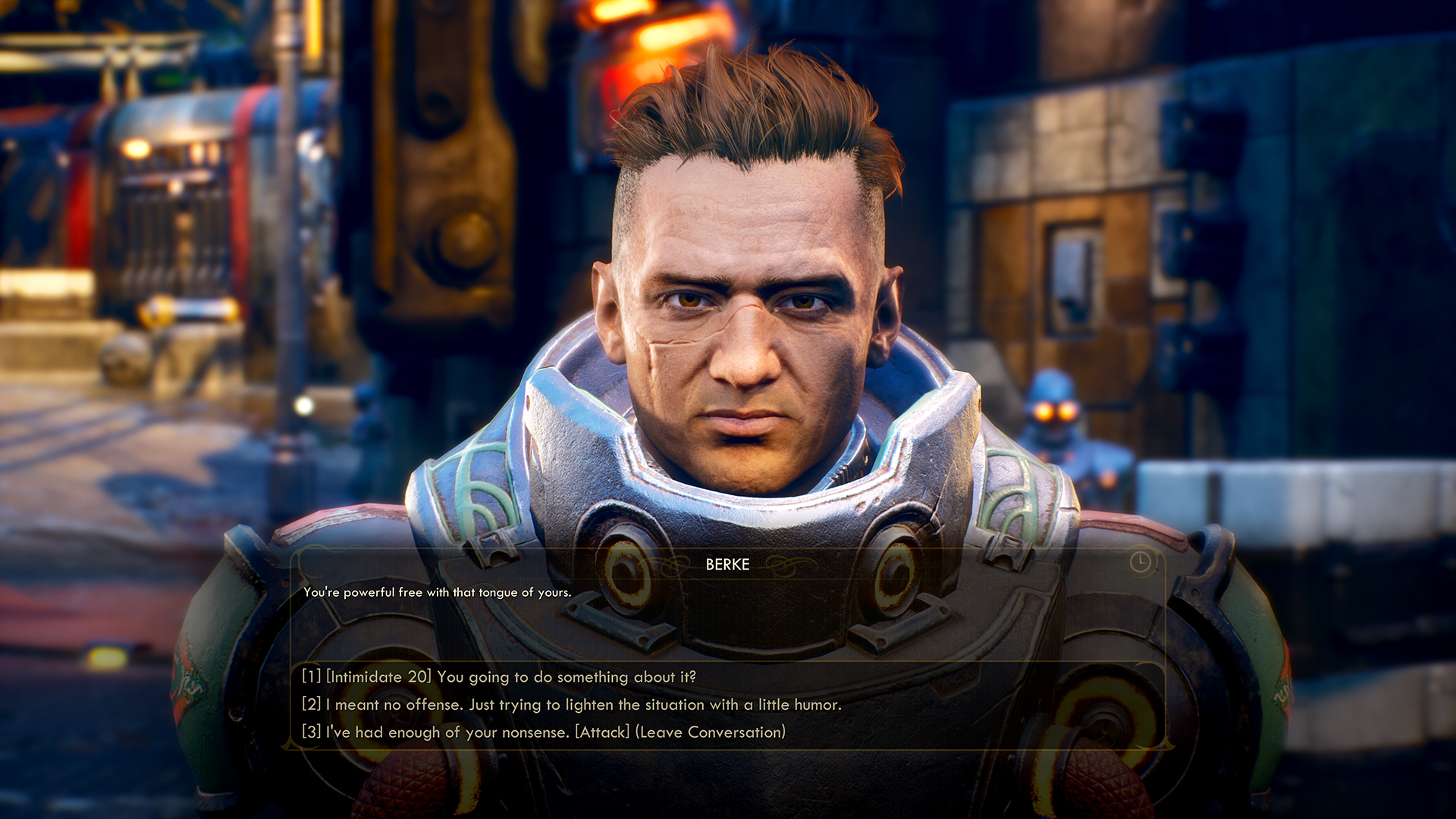 The various dialogue options allow for plenty of opportunity to role-play.