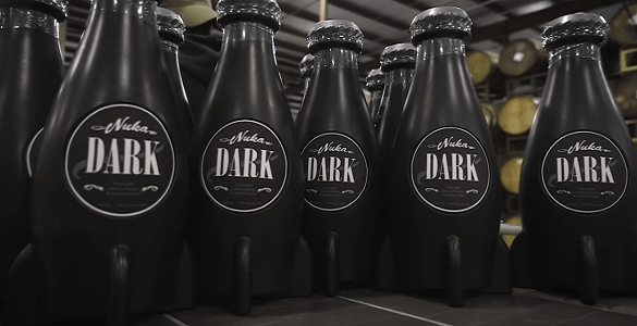 Unfortunately the only drinks available on hand were Bethesda's substantial surplus of Nuka Dark Rum.