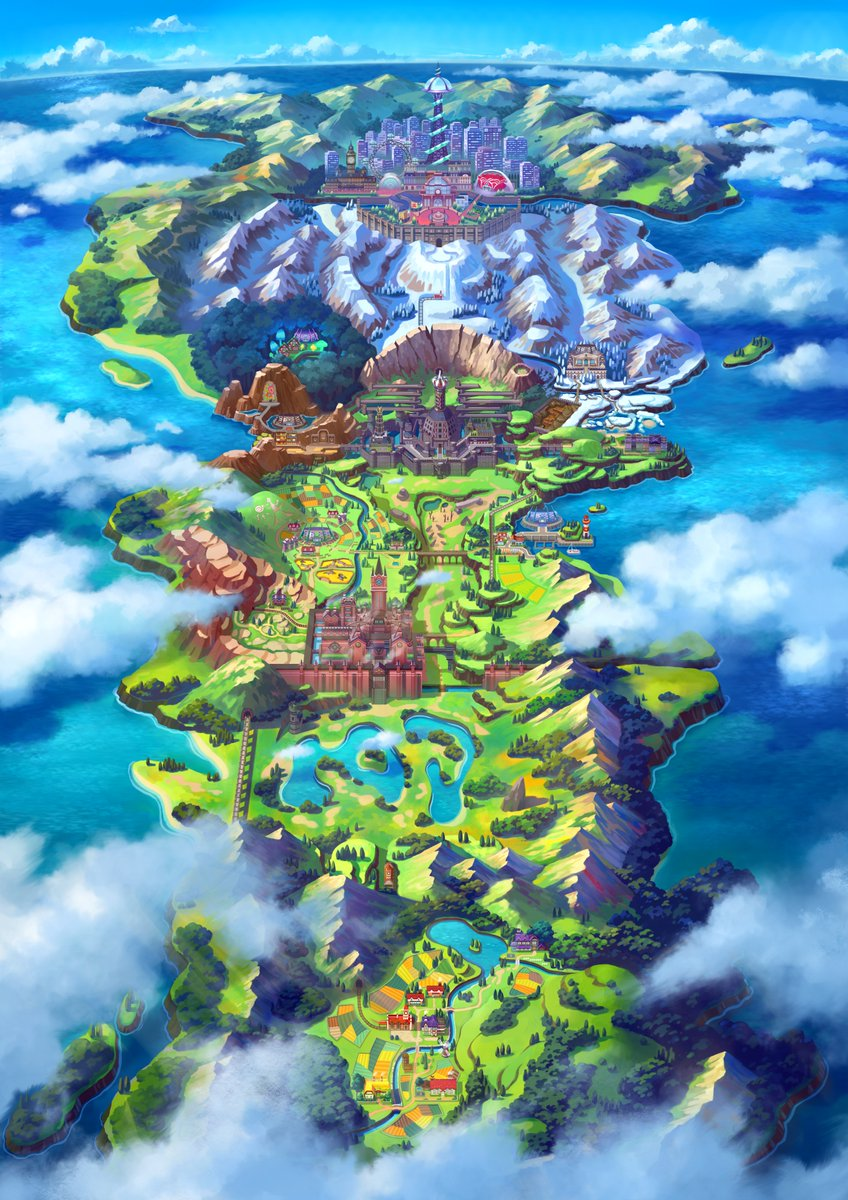 The diverse terrain of Galar.