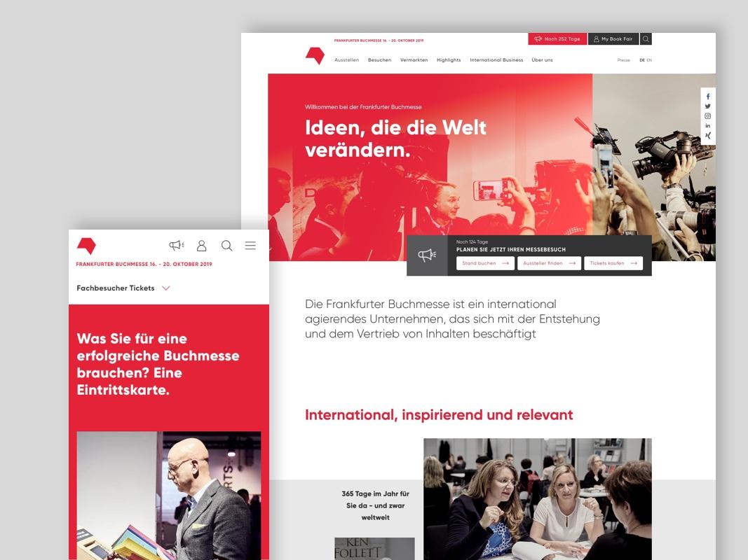Ein digitales Zuhause für die Buchmesse - Die Frankfurter Buchmesse ist der weltweit größte Handelsplatz für Inhalte. Wir haben shift dabei unterstützt, mit der neuen buchmesse.de eine zukunftsichere Plattform für Transaktionen, Kommunikation und digitale Produkte zu entwickeln.