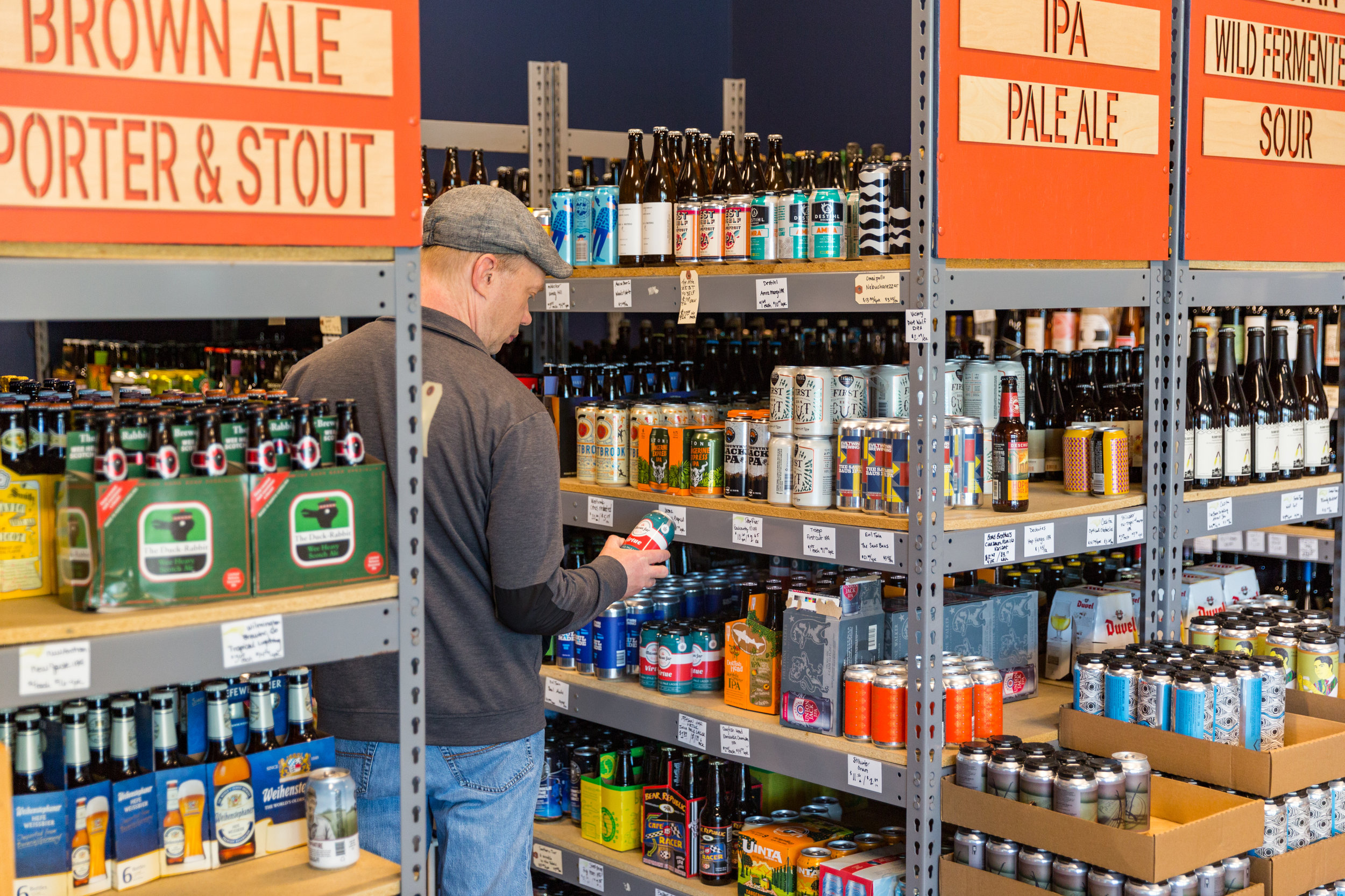BOTTLES & CANS - The Glass Jug features over 500 beers, wines, ciders, meads, kombucha, and sodas in bottles and cans, including a large selection of local, rare, and limited-release offerings from around the country and the world.