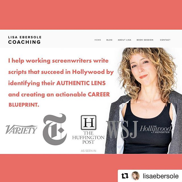 "Huge thanks and a shout out to the amazing @lisaebersole for the #opportunity to design the #website for her #screenwriting #coaching practice!!! Woman, you are a #rockstar!  Check out the site (link in bio) if you're a #writer looking to take your game to the #nextlevel 🌟👊🏼💥 . . . #Repost ・・・ I launched a new site for my Screenwriters Coaching business! Come visit ⚡️ lisaebersole.net ⚡️Thanks to @aikadea for the fabulous design @lavallee.l.a for the photos throughout @lemay_makes for the guidance and my 10-member chat focus group who urged me to ""please keep it clean..."" #screenwriter #tvwriter #playwright #womeninbusiness #writerpreneur #ceomindset"
