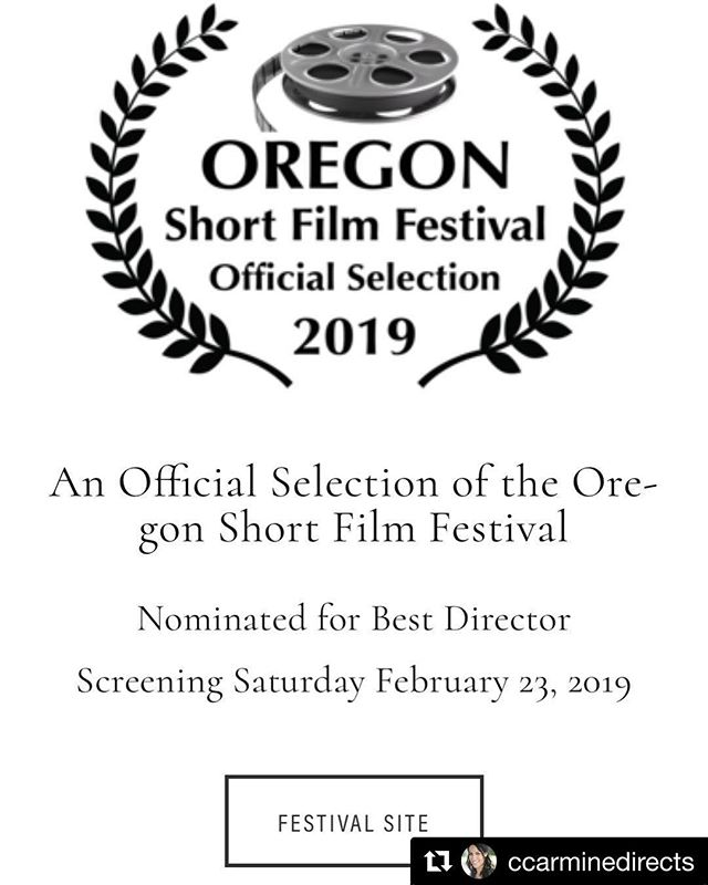 Huge #congrats to #client @ccarminedirects on her short #solsticeranch being an official selection at the Oregon Short Film Festival and her #nomination for #best #director!!! 🌟🌟🌟 ・・・ #repost  Thank you #oregonshortfilmfestival for the official selection and best #director nod 😊 #film #filmmaker #filmfestival #womeninfilm