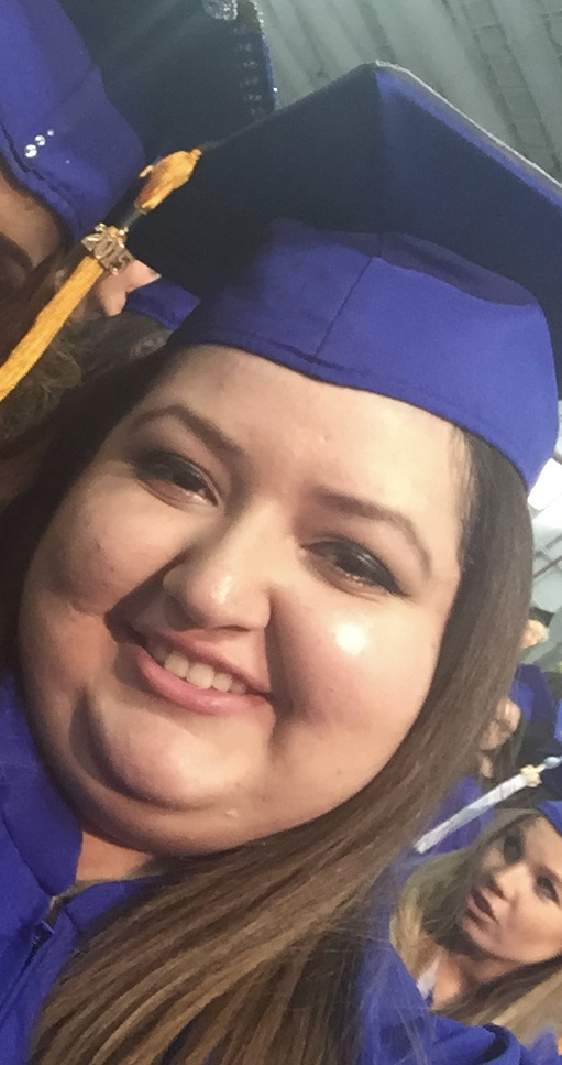 My college graduation, this wasn't my heaviest weight.