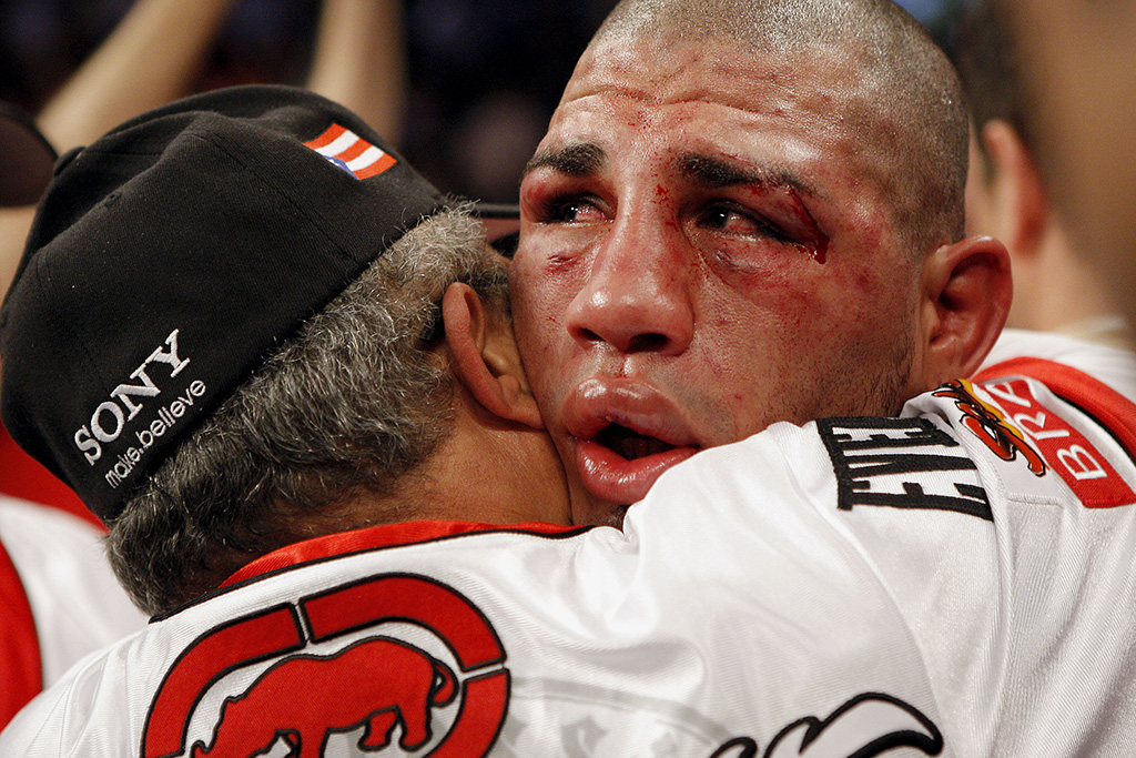 In defeat: Miguel Cotto