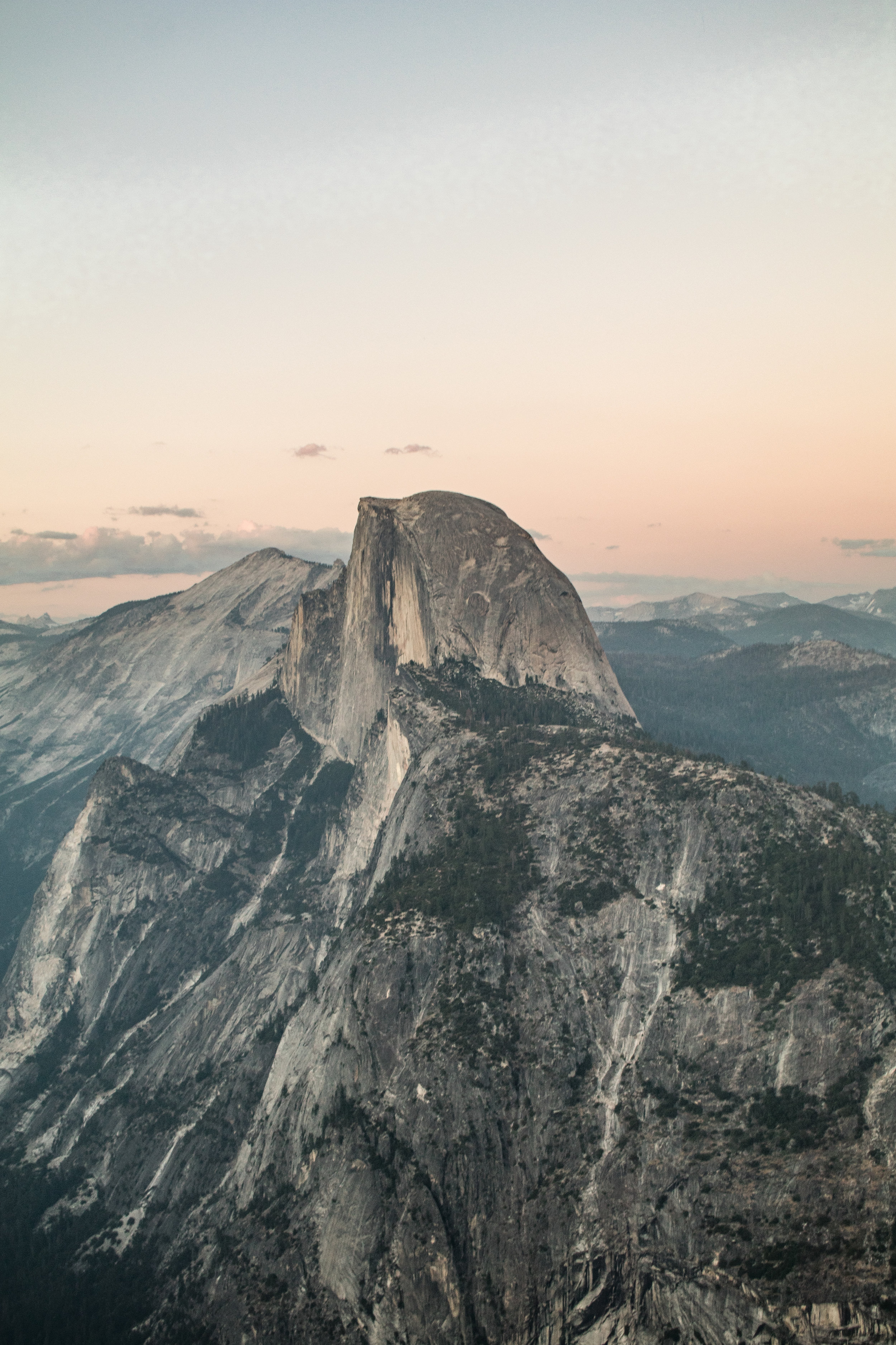 Half Dome before Sunset from Glacier Point - Yosemite