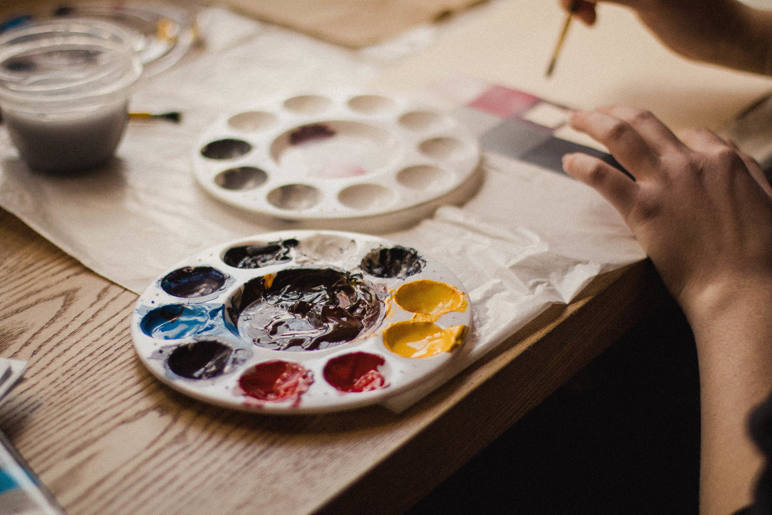 Sarah Yatkowski Paint Palette by Haley Ivers