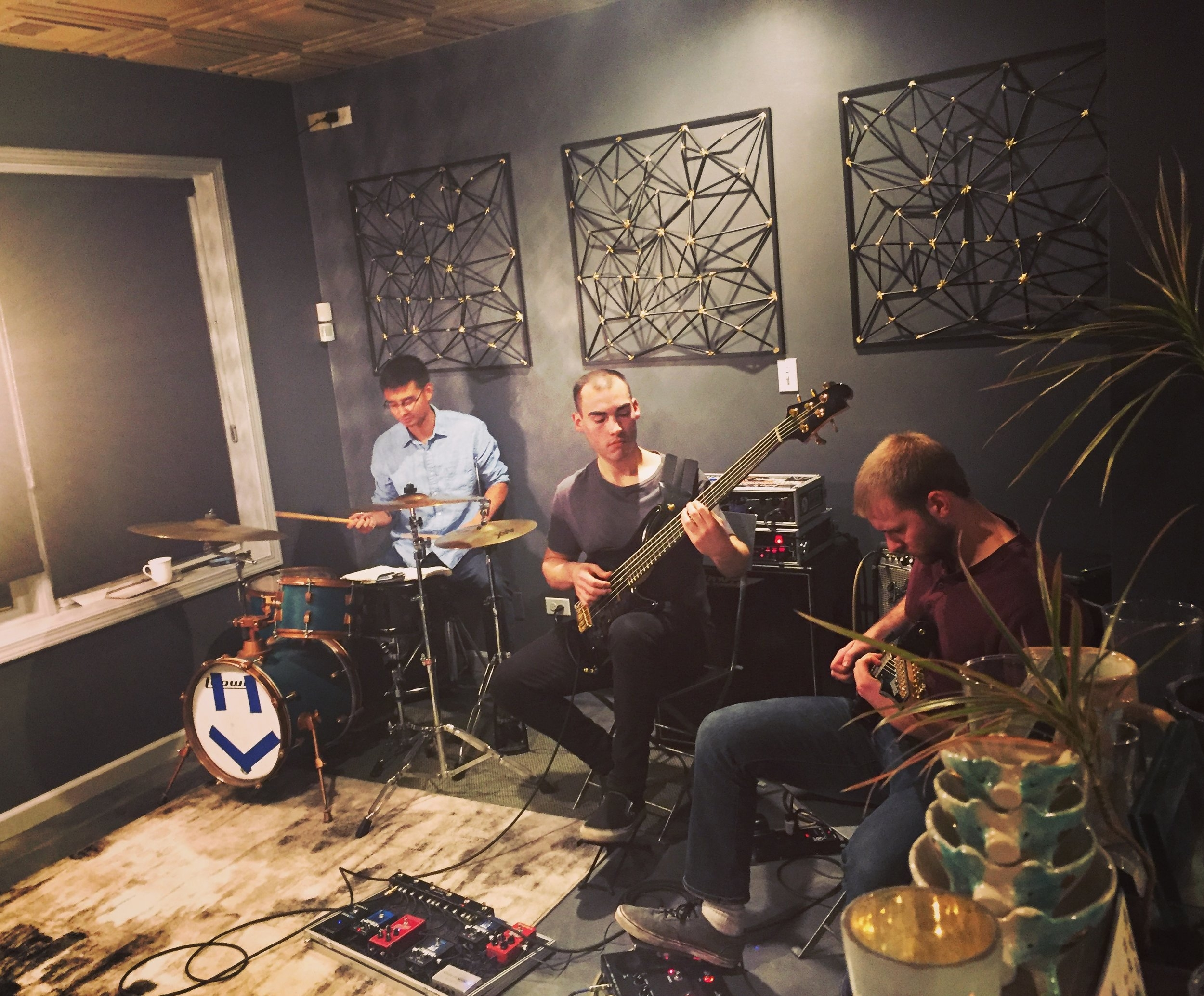 Live Music:Saturday, November 24th at 7pm - What a thrill it was to have Sam, the bassist, Luke. the guitarist, and Jeff, the drummer at Coquelicot! They are so incredibly gifted!Many thanks to those who came to support us and the band!