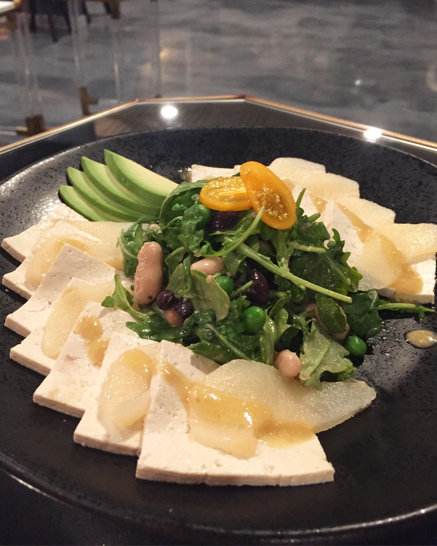 Our Tofu Pear Salad