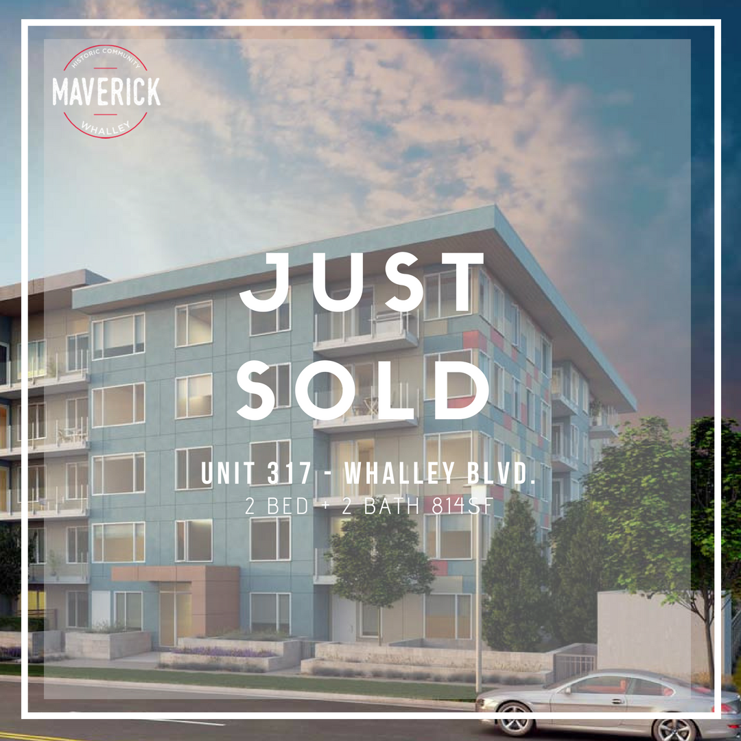 MAVERICK  Congratulations to my client who was able to secure a unit in the ever popular Maverick in Surrey. This development sold out very fast. Located just 5 minutes from the skytrain and local amenities - This is an investment that will perform.