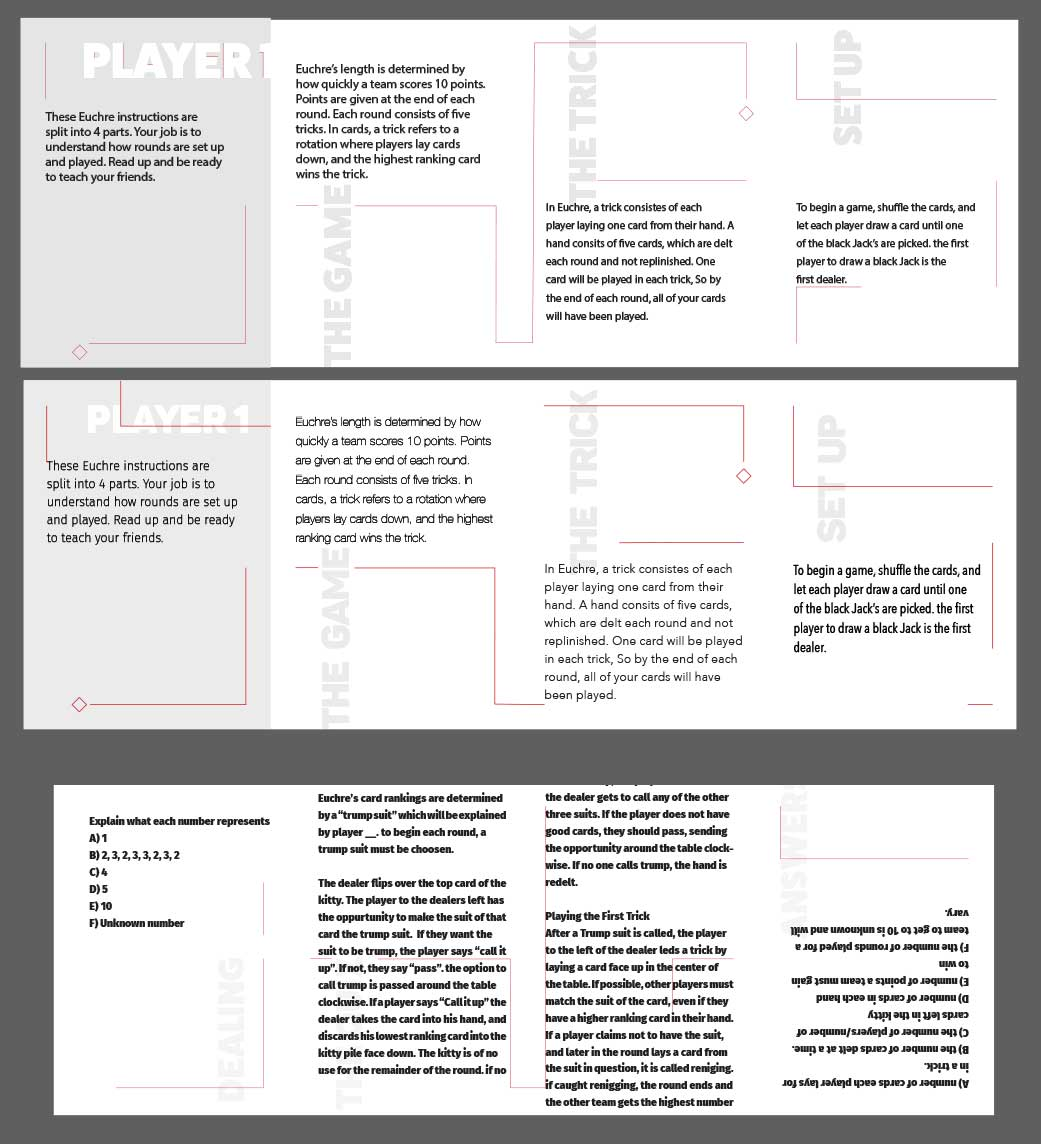 I reworked the designs focusing on creating a sleek visual appeal. I looked at various typefaces, and how they affected the designs.