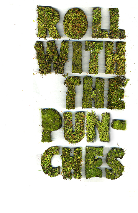 Roll with It. Scanogram.  Hand cut moss