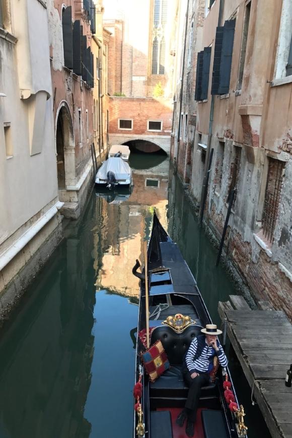 Taking our last gondola ride.
