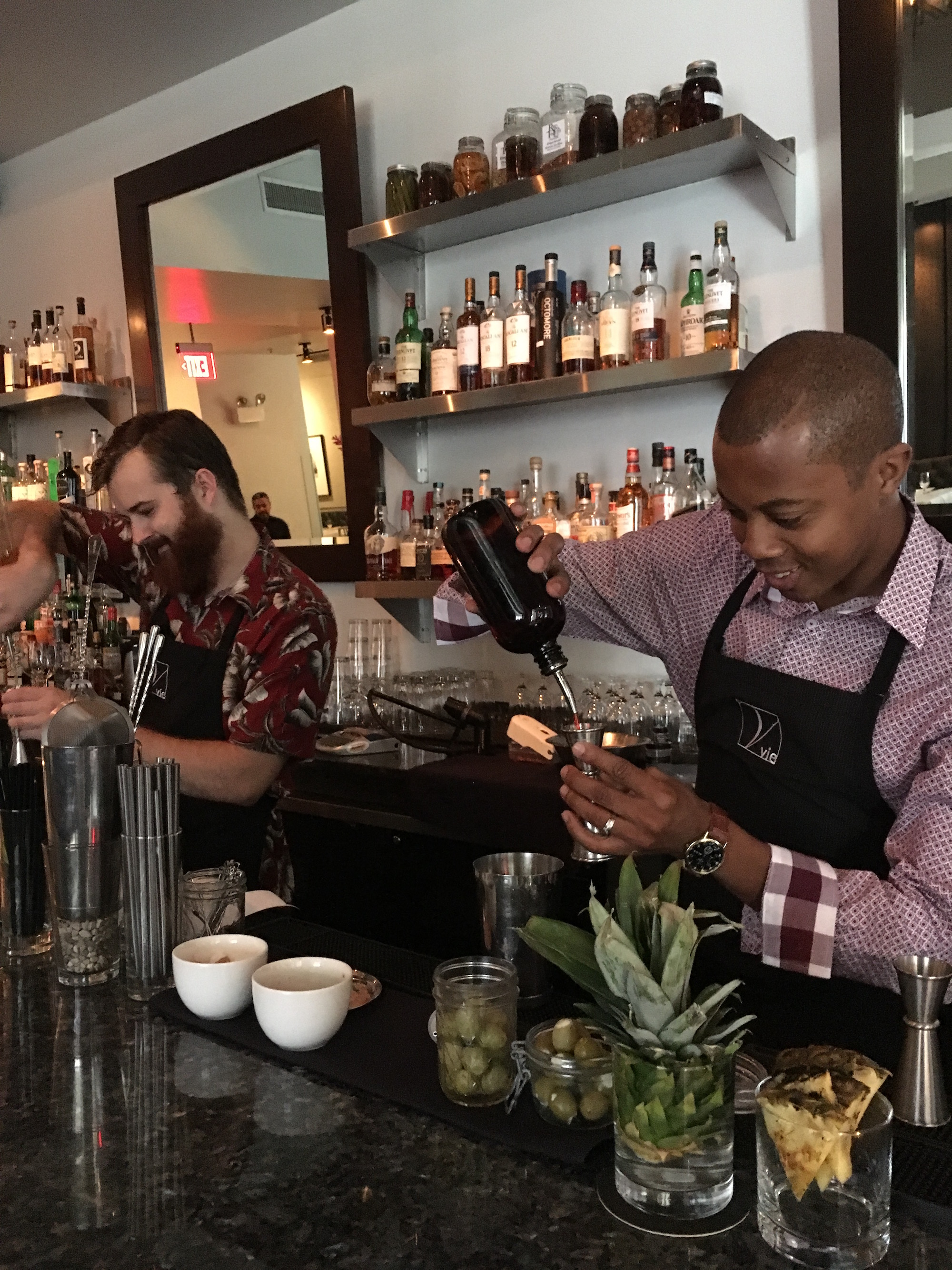 Julius and Patrick are serving up some special BBQ Week cocktails ...