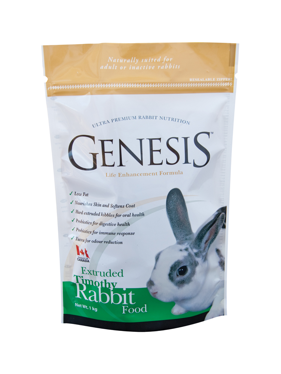 Genesis Extruded Timothy Rabbit Food - is a complete formula specifically developed for adult rabbits. This diet has been designed to provide balanced nutrition for owners wishing to feed a slightly lower nutrient dense diet based on Timothy hay.