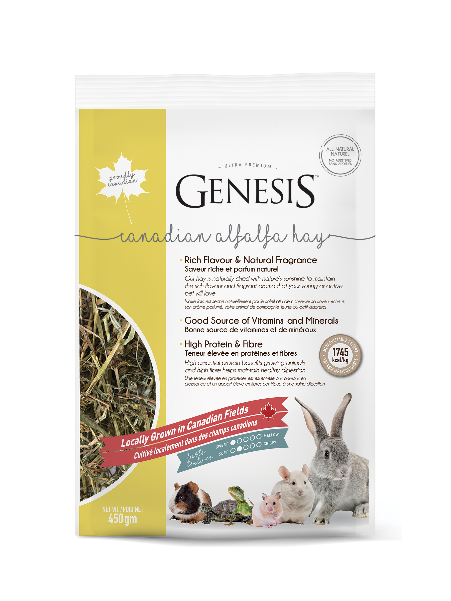 Genesis 100% Canadian Alfalfa Hay - is packed full of nutrition with high protein, high fibre and concentrated sources of essential vitamins and minerals.