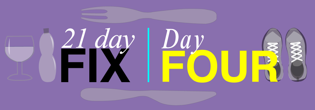 21 Day Fix Day Four of Lee Towle's weight loss journey.