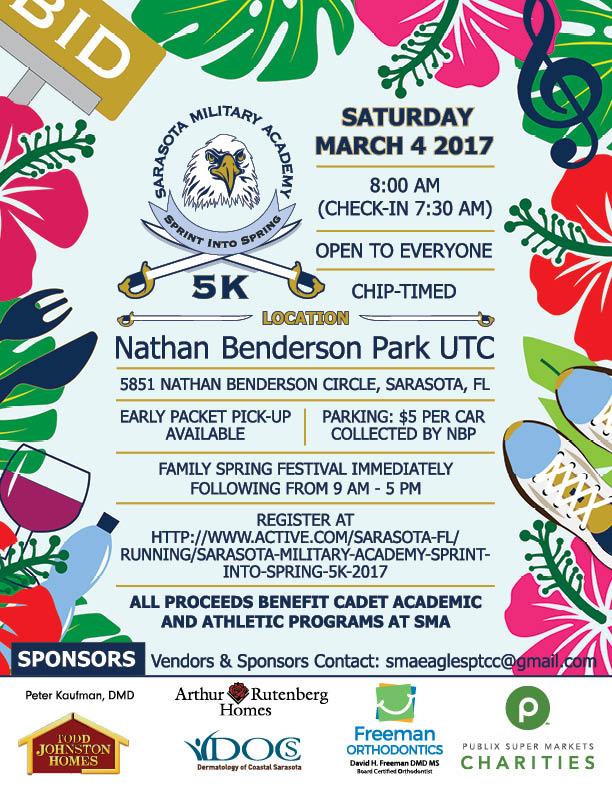 Illustrated Sarasota Military Academy Spring Festival Poster 2017