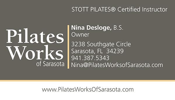 Pilates Works of Sarasota Business Card Project
