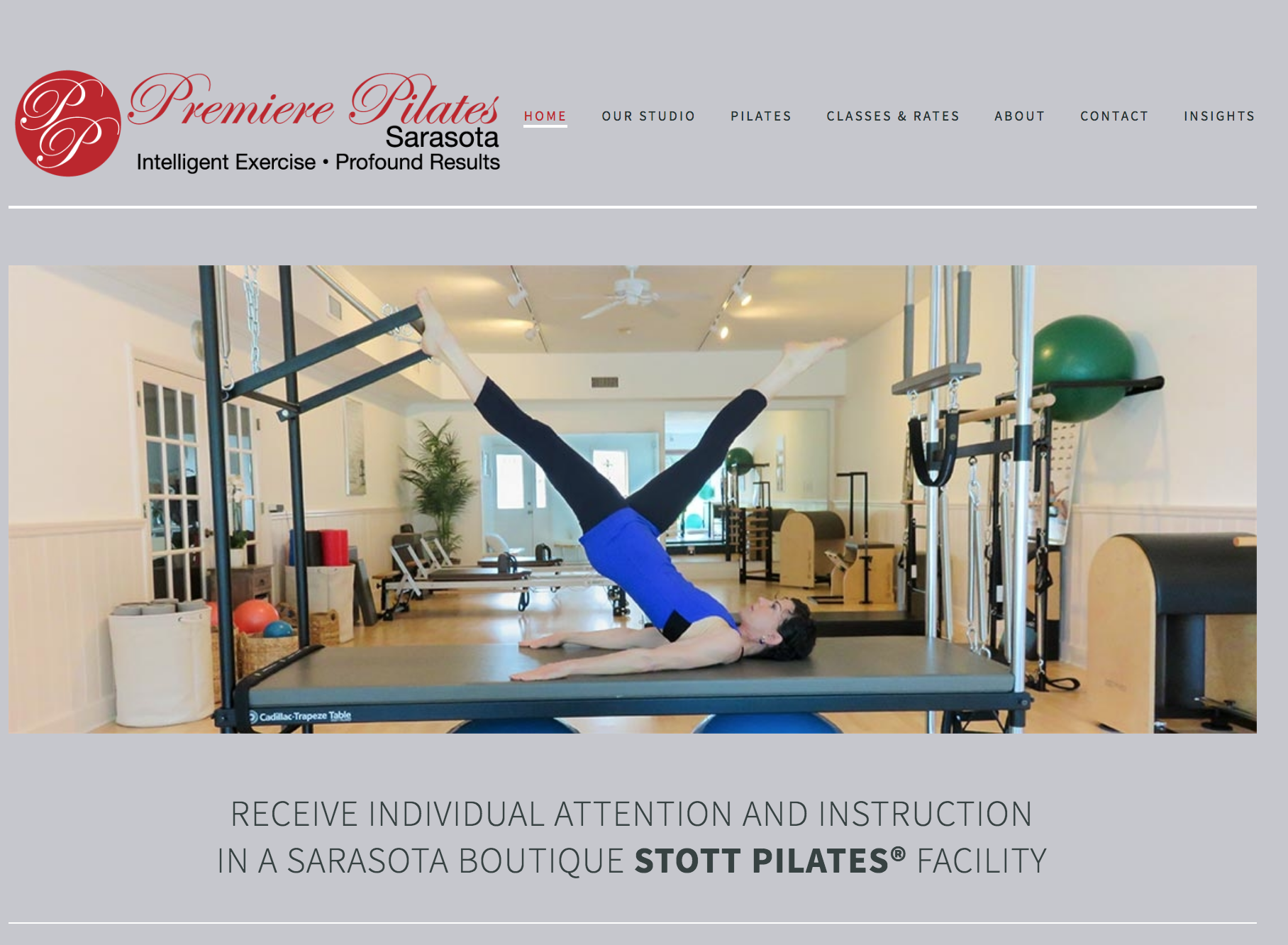 Premiere Pilates Sarasota Website Project