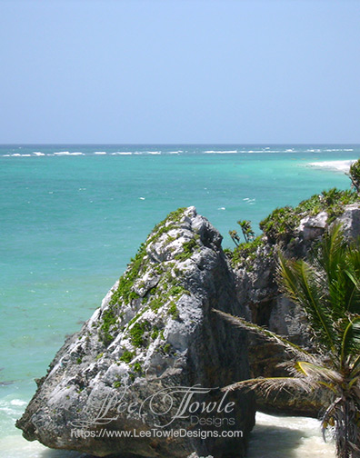 Beautiful nature photography of a Gulf of Mexico tropical beach near Tulum Mexico. This nature photography is available on a variety of print wall art and home decor items through Fine Art America.