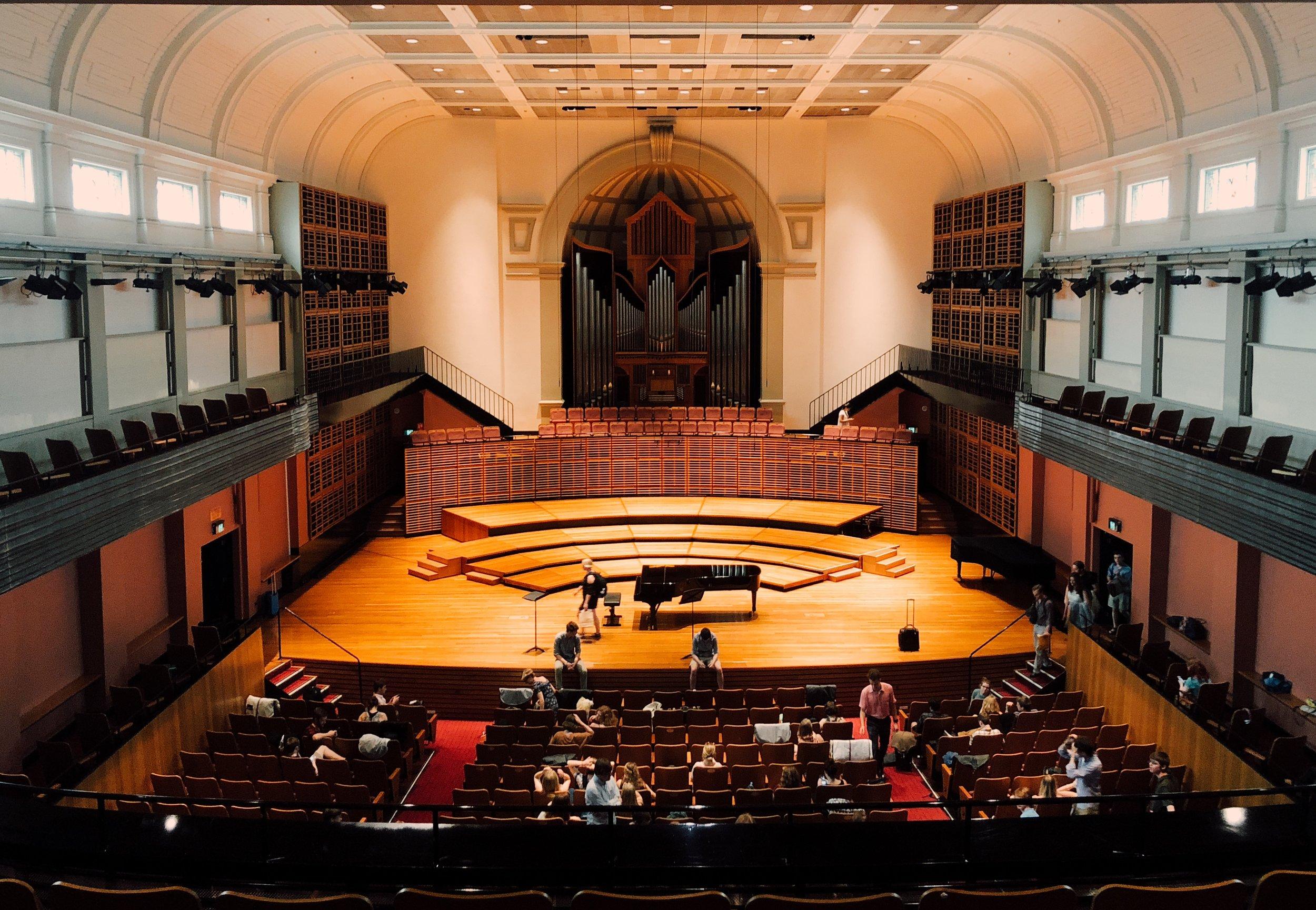 Verbrugghen Hall, Sydney Conservatorium of Music, Sydney, NSW, Australia.