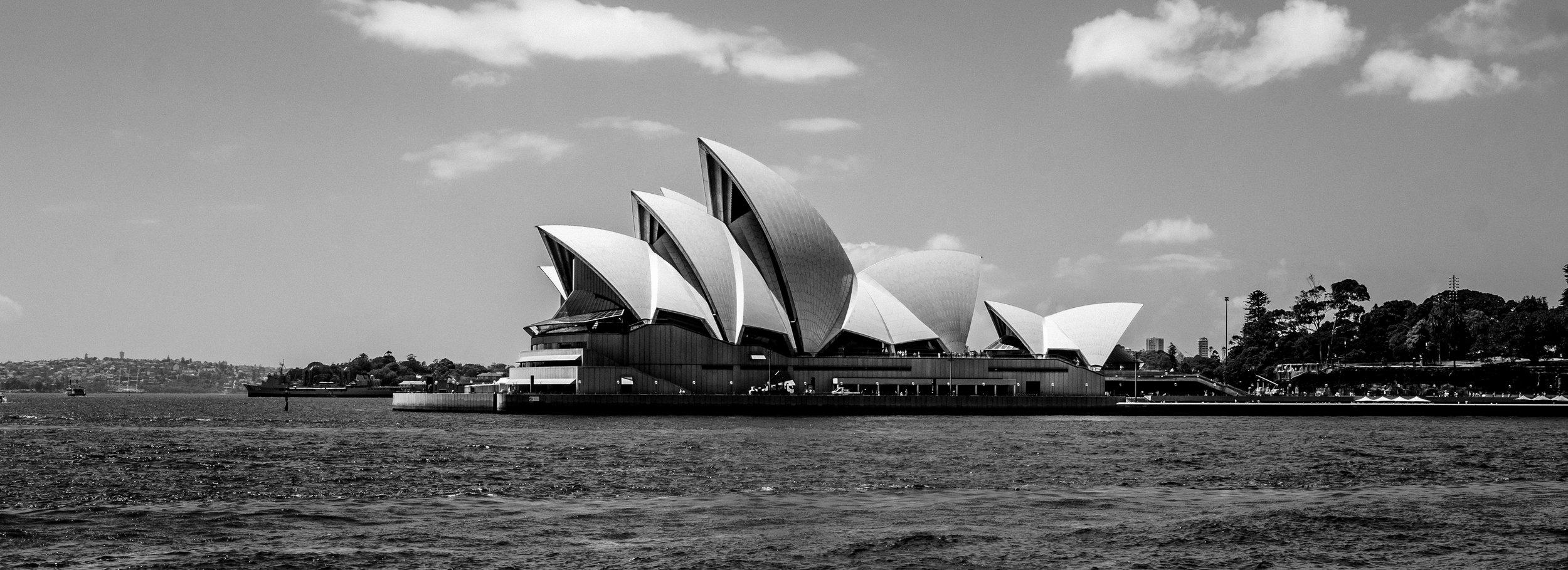 Sydney Opera House, Designed by Jørn Utzon.