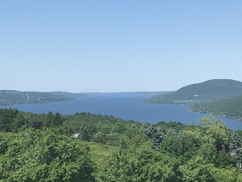 View of Canandaigua Lake from Bristol Overlook