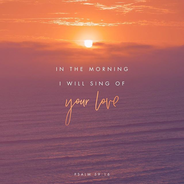 """What a wonderful way to start off the morning, by singing to God, thanking him for his loving kindness and strength towards us! Pretty sure that's a great way to start the day!! Praise and worship tears down fortresses! . """"But as for me, I shall sing of Your strength; Yes, I shall joyfully sing of Your lovingkindness in the morning, For You have been my stronghold And a refuge in the day of my distress."""" Psalms 59:16 NASB . . . #praise #worship #singing #joyful #lovingkindness #storytellerchurch #everynationchurch #pslam59v16 #psalm59"""