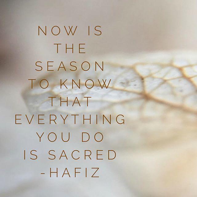 Hafiz the Wise Poet knows what's up! #timetoharvest #knowyourssacred #everylittlething #bodytalk #revealyoursoul #revelationsoulbodytalk #timeforyou