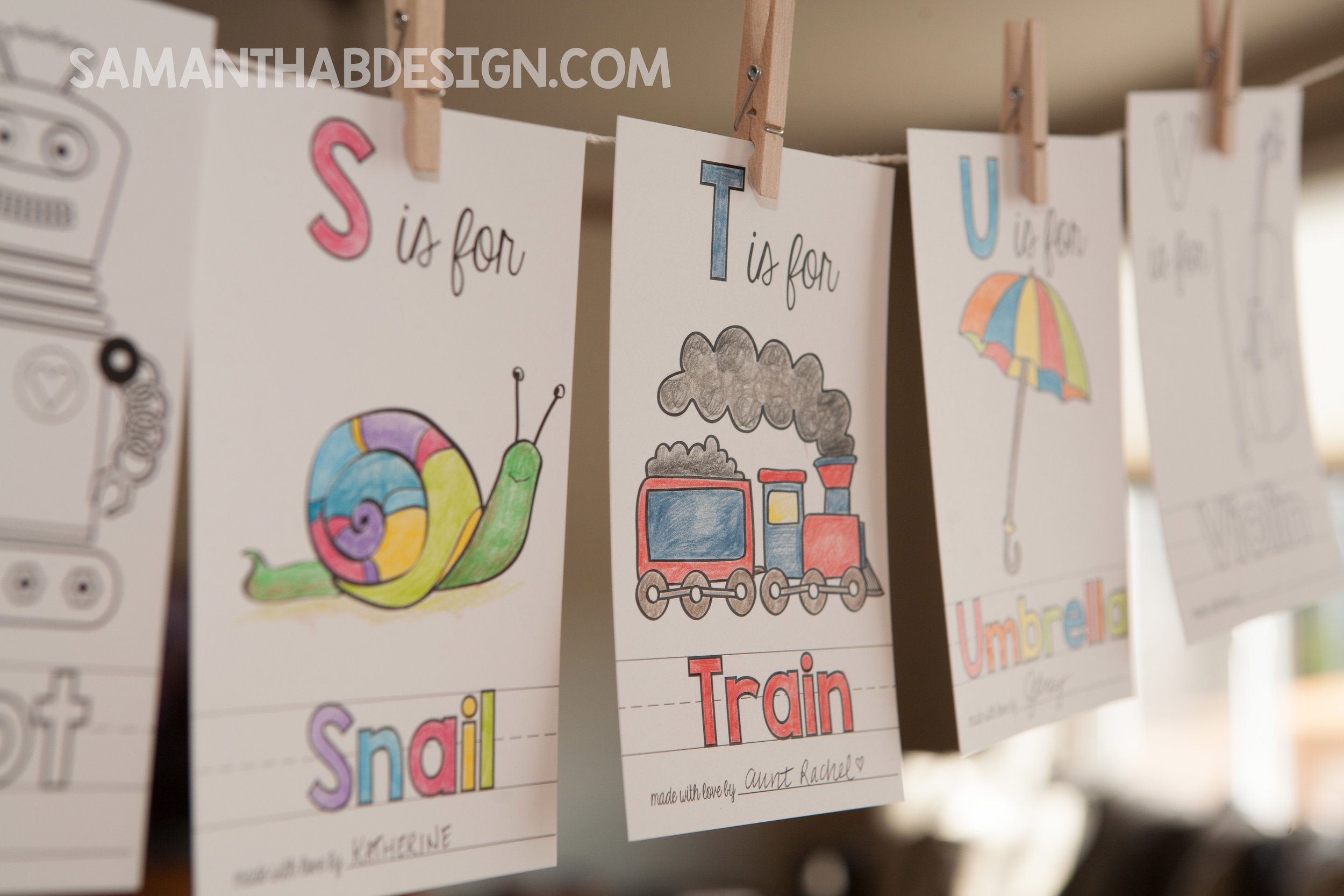 Train ABC Book Page