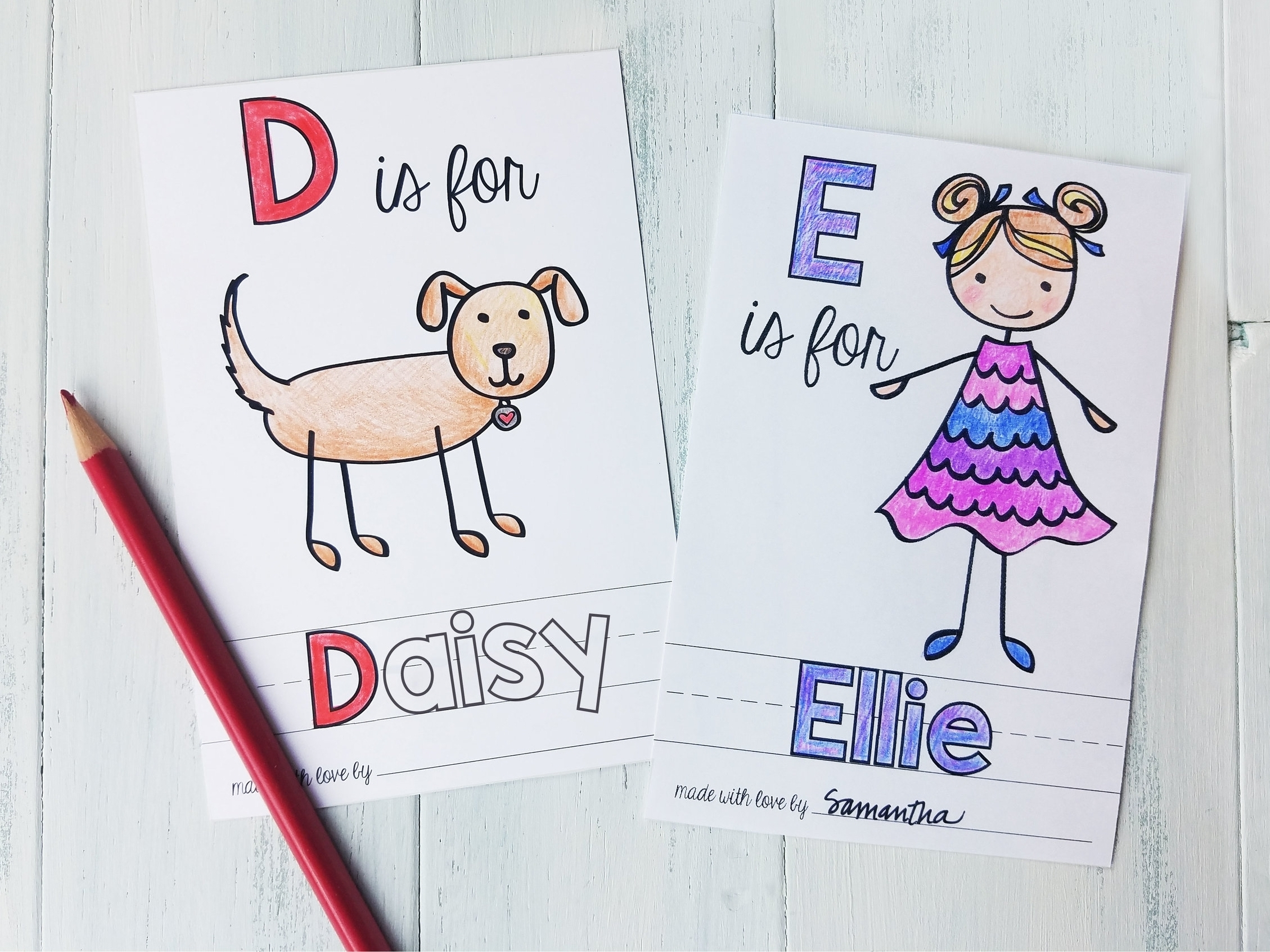 Just two of the illustration options for your personalized page