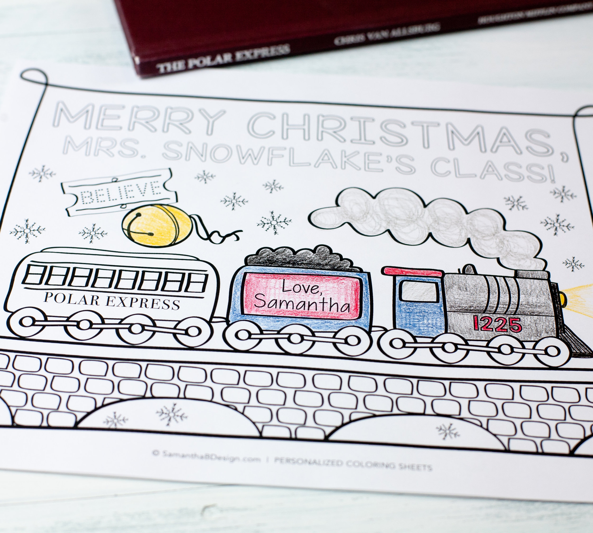 Polar Express Coloring Sheet PDF Download