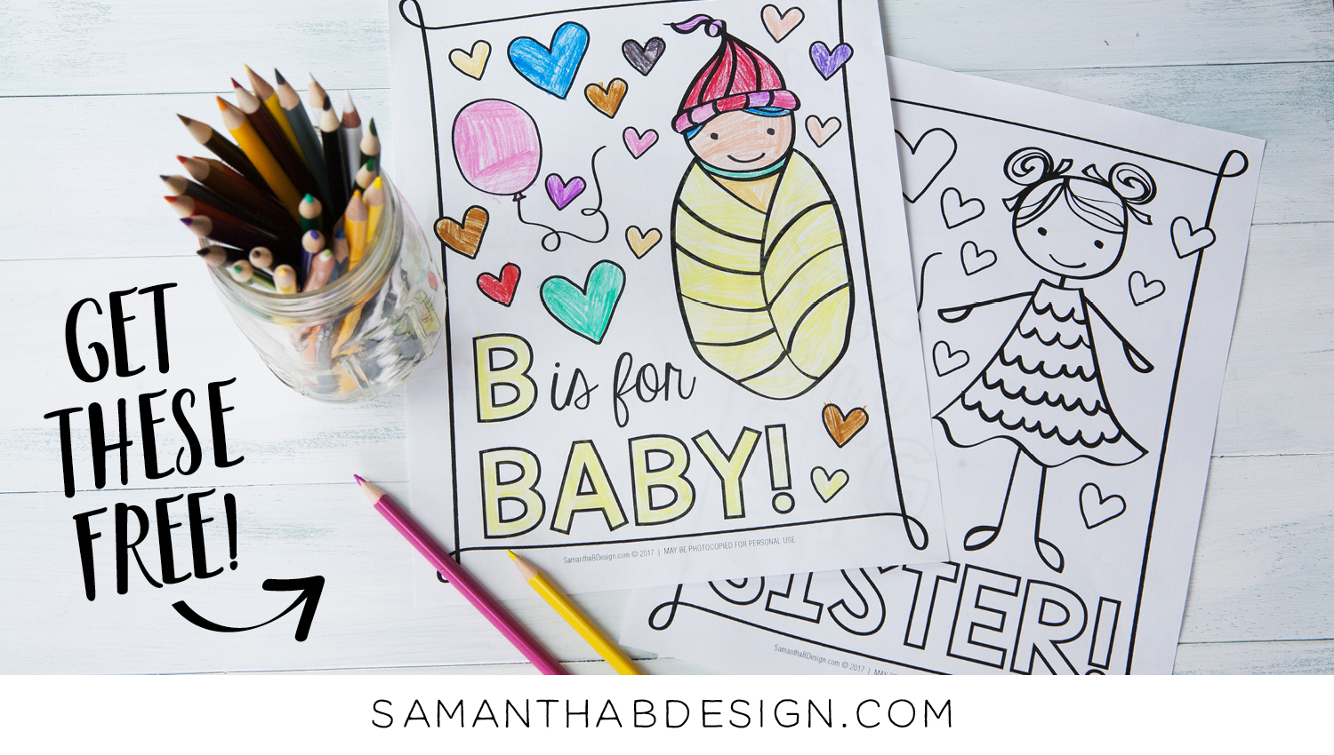 Free New Baby Coloring Sheets